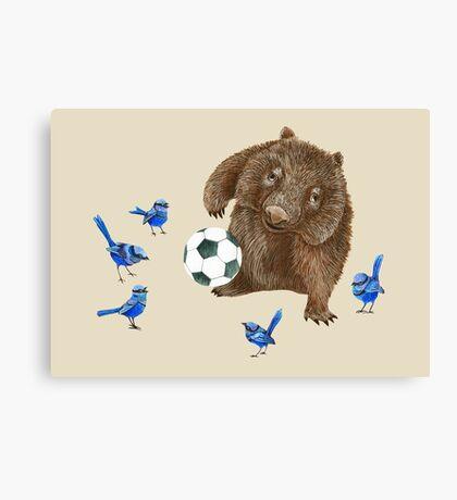 Wrens football Wombat Canvas Print