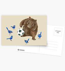 Wrens football Wombat Postcards