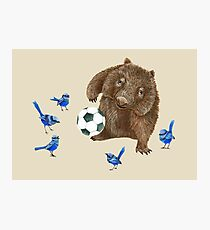 Wrens football Wombat Photographic Print