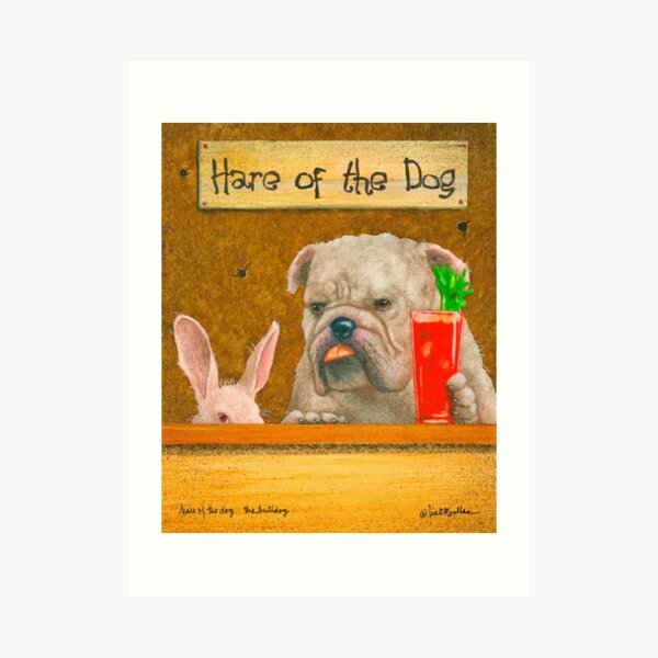Will Bullas card / hare of the dog... Art Print