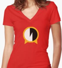 Camiseta entallada de cuello en V Simple Protoman.EXE Navi Symbol