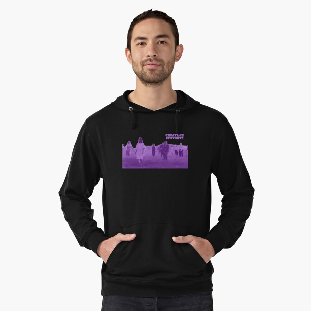 Night of the Living Dead Zombies Lightweight Hoodie Front