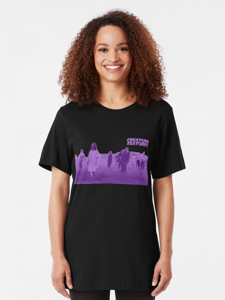 Alternate view of Night of the Living Dead Zombies Slim Fit T-Shirt
