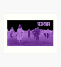 Night of the Living Dead Zombies Art Print