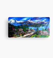 Panoramic View Of Everest Mountain Canvas Print