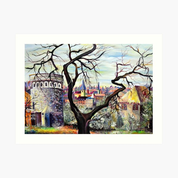 Plateau du Rham - Luxembourg Painting in a Surreal style Art Print