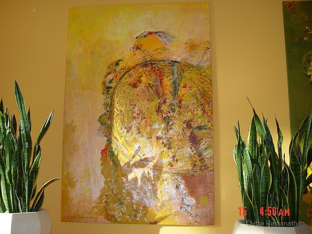 Chitra Ramanathan's Signed Painting in the Bellagio Conservatory, Las Vegas by Chitra Ramanathan