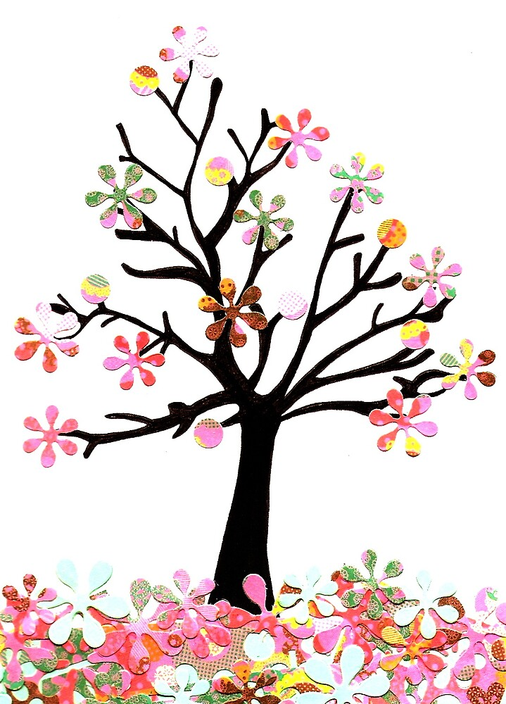 Retro Blossom Tree by missleslieanne