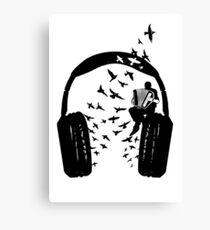Headphone - Accordion Canvas Print