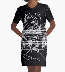 Particle tracks (dark) Graphic T-Shirt Dress