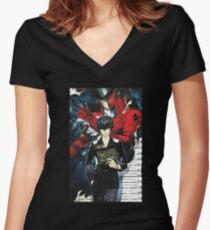 Me and My Joker Persona Women's Fitted V-Neck T-Shirt