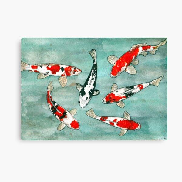 Le ballet des carpes koi Canvas Print