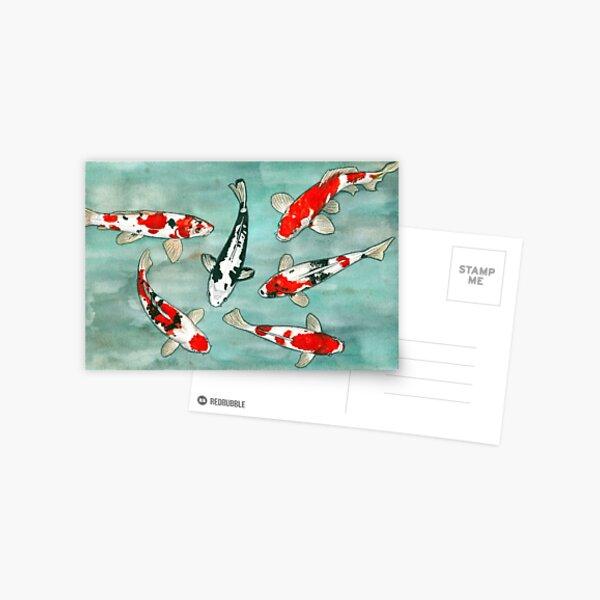 Le ballet des carpes koi Postcard