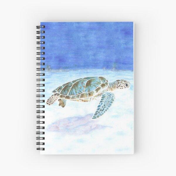 Sea turtle underwater Spiral Notebook