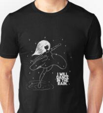 Dancing in the rain White design Unisex T-Shirt