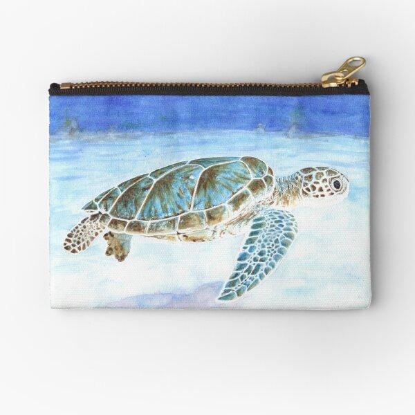 Sea turtle underwater Zipper Pouch