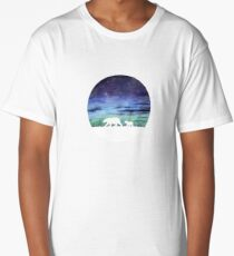 Aurora borealis and polar bears (light version) Long T-Shirt