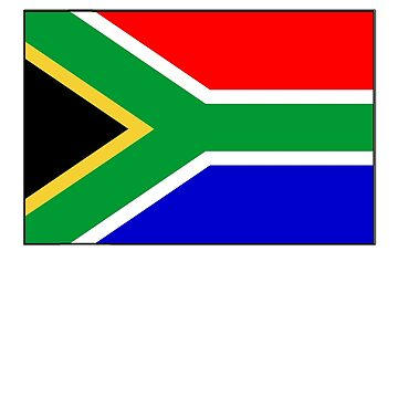 South Africa, South African Flag, Flag of the Republic of South Africa, Africa, African by TOMSREDBUBBLE