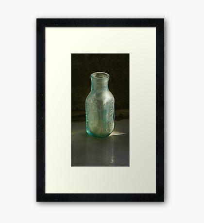 Old Eiffel Tower lemonade bottle  Framed Print