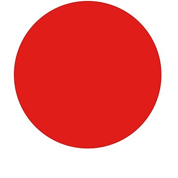 JAPAN, JAPANESE, Circle of the sun, Red Circle, Japanese Flag, National Flag of Japan, Hinomaru, Nisshōki, Sun Mark Flag, Nippon by TOMSREDBUBBLE