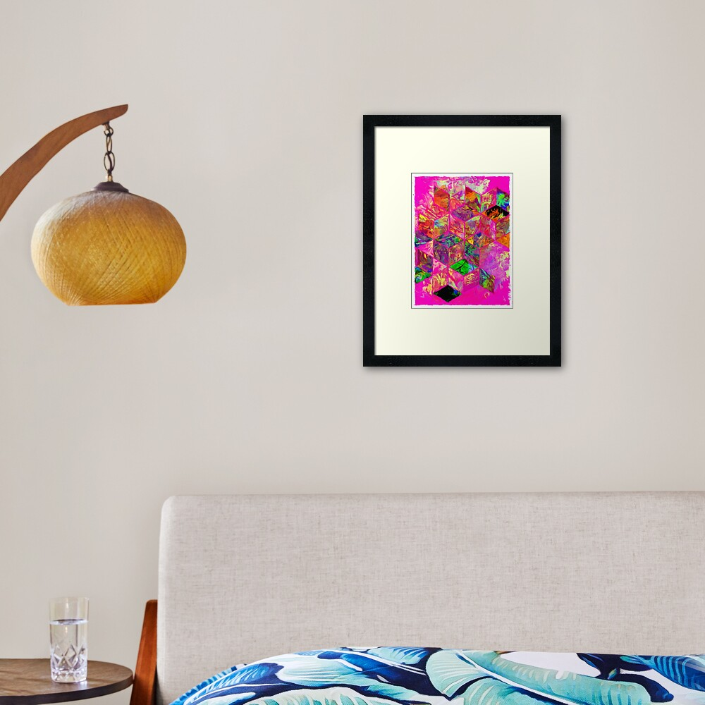 COLOR BLOCK FIVE Framed Art Print