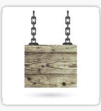 Old Color Wooden Board with Chain Sticker