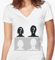 avatar profile pictures Women's Fitted V-Neck T-Shirt
