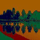 Abstract Lake by Karen Harding