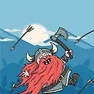 Fabulous Viking w/ landscape by stegopawrus