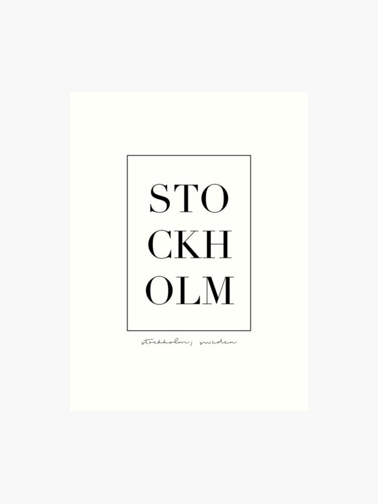 Letter Art Print.Stockholm Letters Art Print