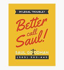 Better Call Saul | Breaking Bad Photographic Print
