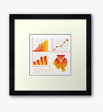 info graphic elements Framed Print