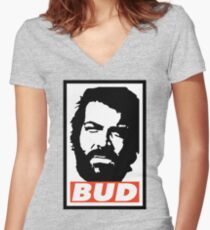 BUD Women's Fitted V-Neck T-Shirt