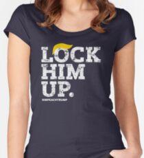 Lock Him Up. Impeach Trump Women's Fitted Scoop T-Shirt