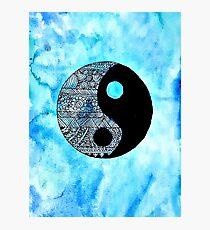 mandela ying yang  Photographic Print