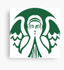 Starbucks Don't Blink Canvas Print
