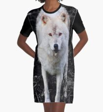 The Wolf Stare Graphic T-Shirt Dress
