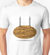 wood board and chain Unisex T-Shirt