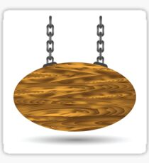 wood board and chain Sticker