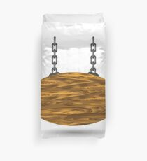wood board and chain Duvet Cover