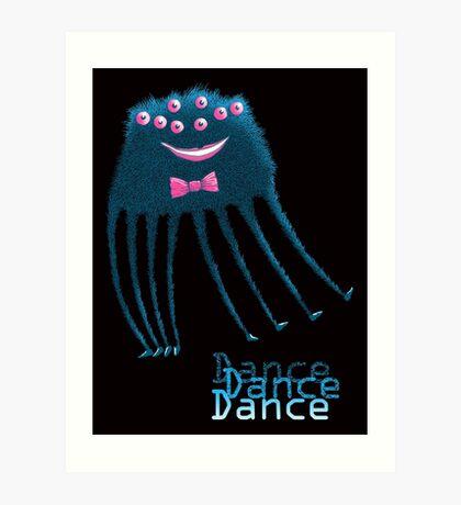 Techno Dance Disco Spider Art Print