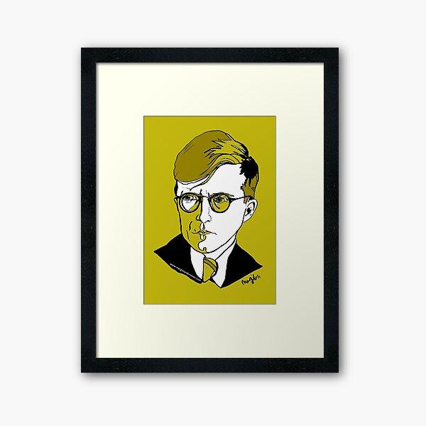 Dmitri Shostakovich Russian Composer  Framed Art Print