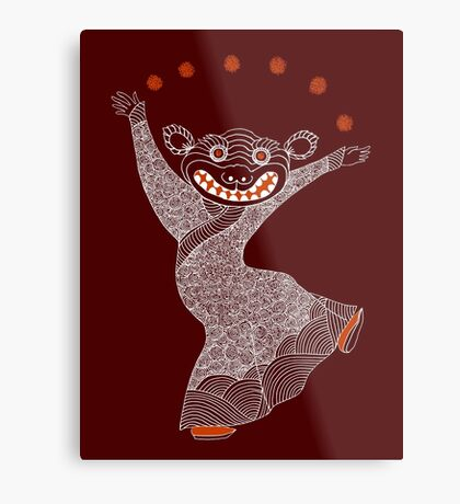 Ghost Tiger Juggler with Red Shoes Metal Print