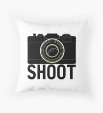 Shoot - photographer's camera Throw Pillow