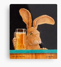 Will Bullas card / Jack and a beer back... Metal Print