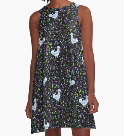 Glam Huhn A-Linien Kleid