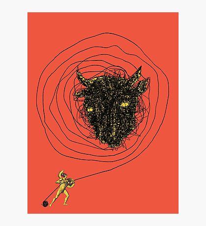 Theseus, the Minotaur, and the Thread Maze Photographic Print