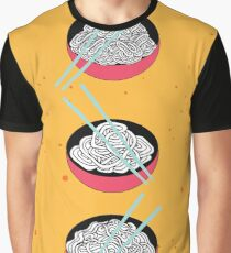 Hand drawn noodles bowl set  Asian cuisine banner Graphic T-Shirt