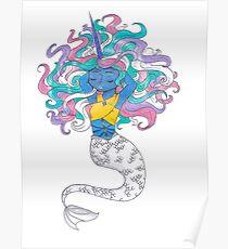 Mermaid Woman Poster