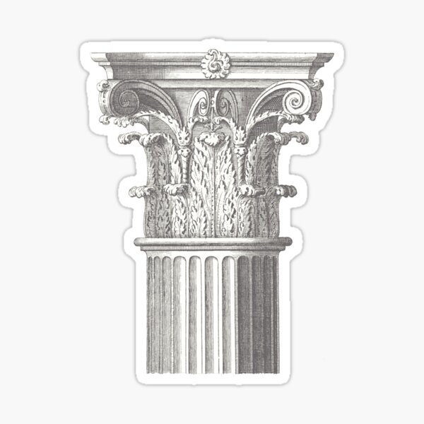 Ancient civilization Corinthian order Sticker